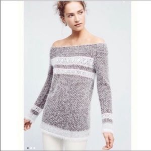 Anthropologie Faroe Nordic Off Shoulder Sweater